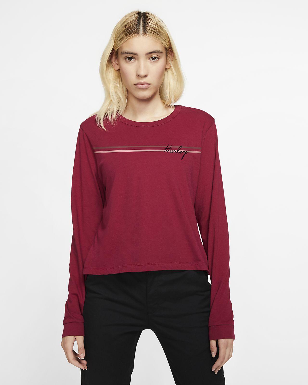 T-shirt a manica lunga Hurley Line Bars Perfect - Donna