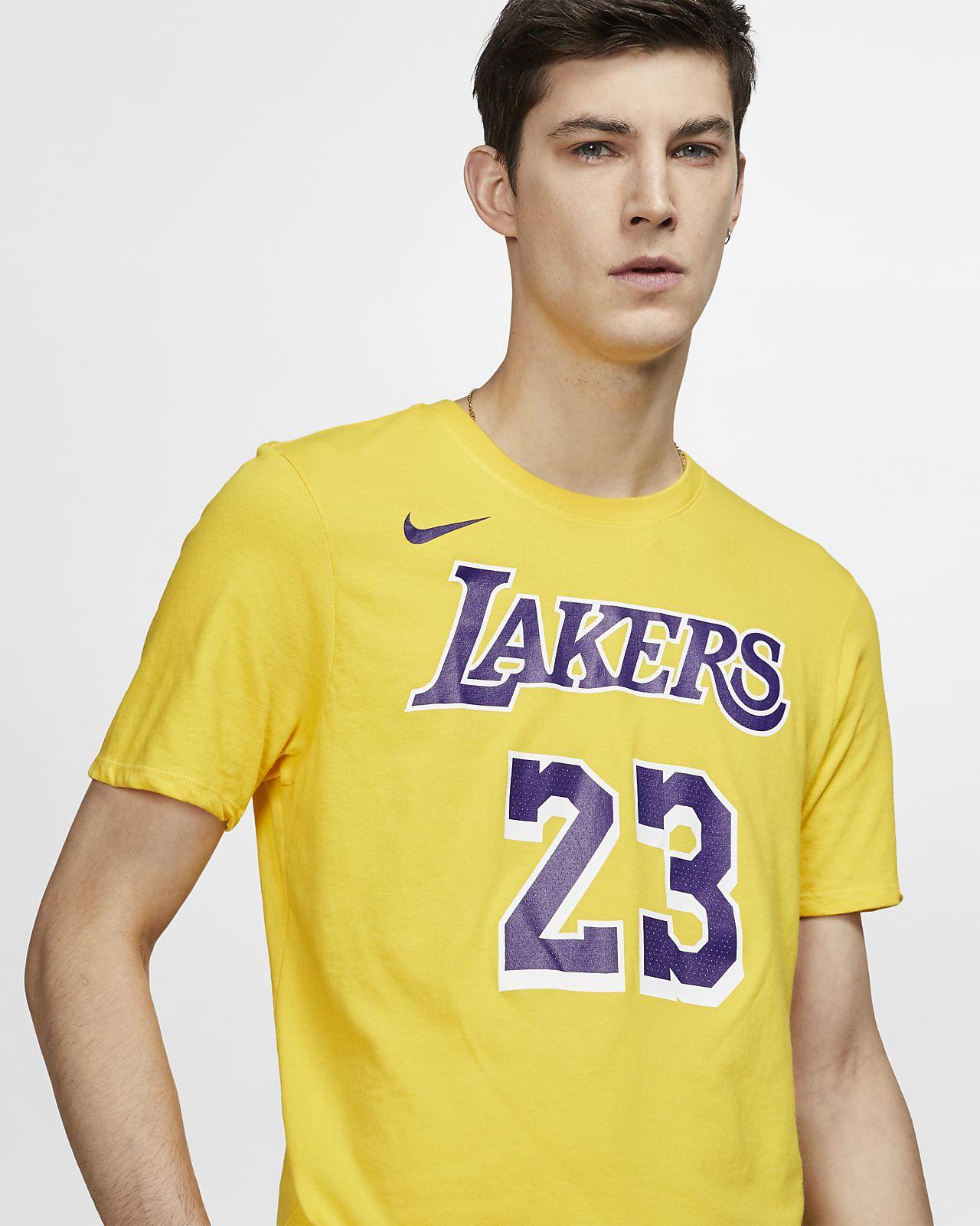415007dee63 LeBron James Los Angeles Lakers Nike Dri-FIT Men s NBA T-Shirt. Nike.com