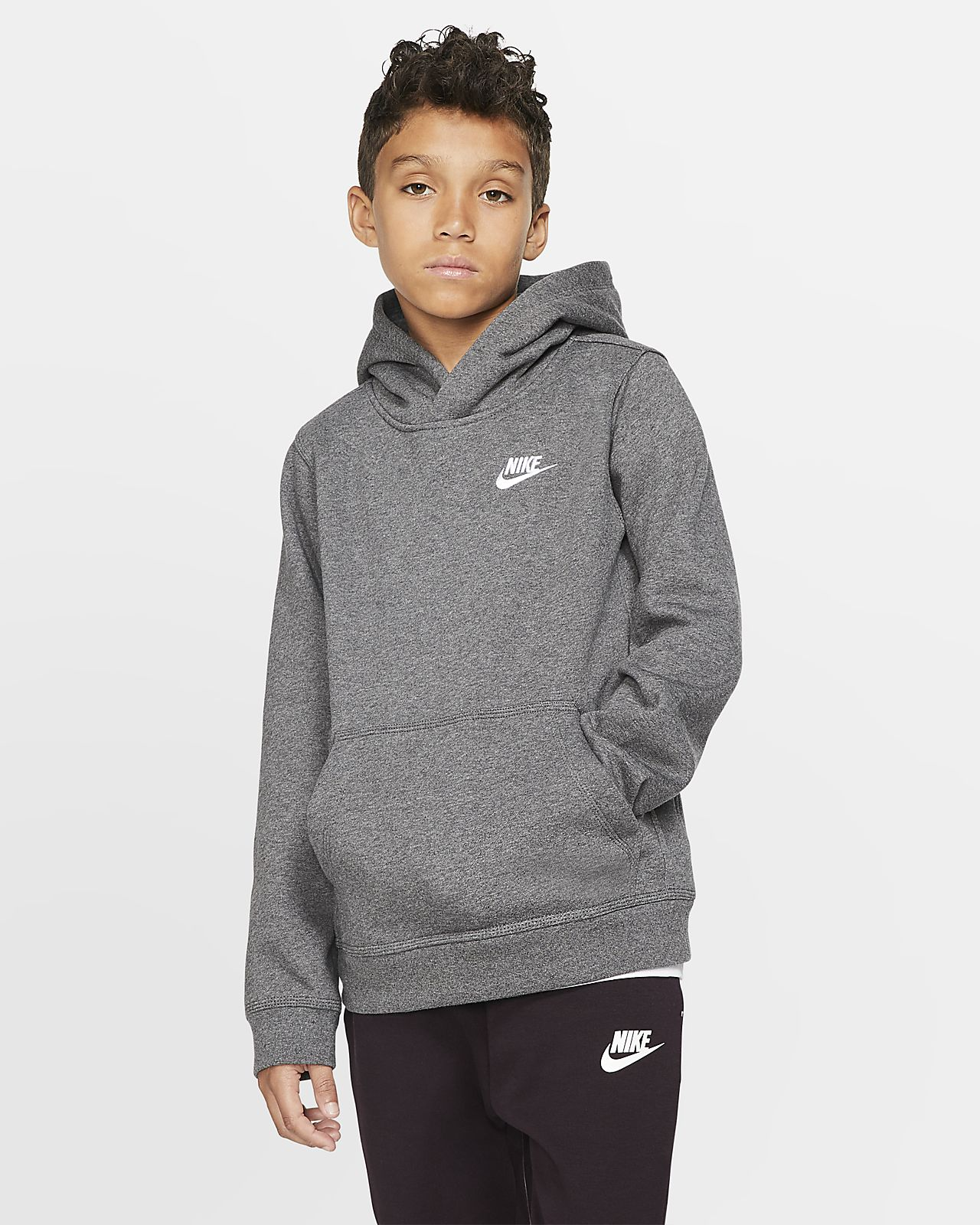 Nike Sportswear Club Big Kids\u0027 Pullover Hoodie
