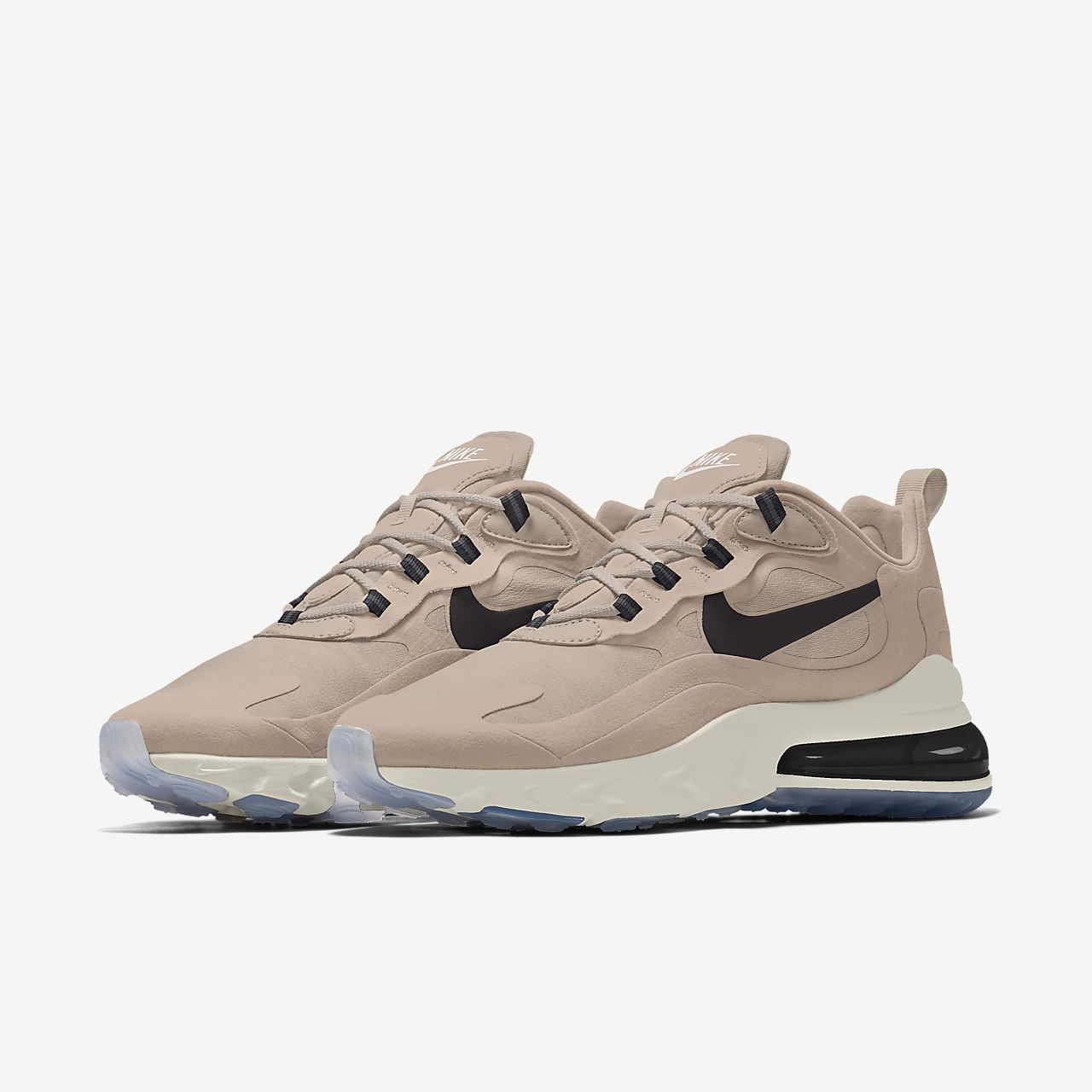 Nike Air Max 270 React By You personalisierbarer Schuh