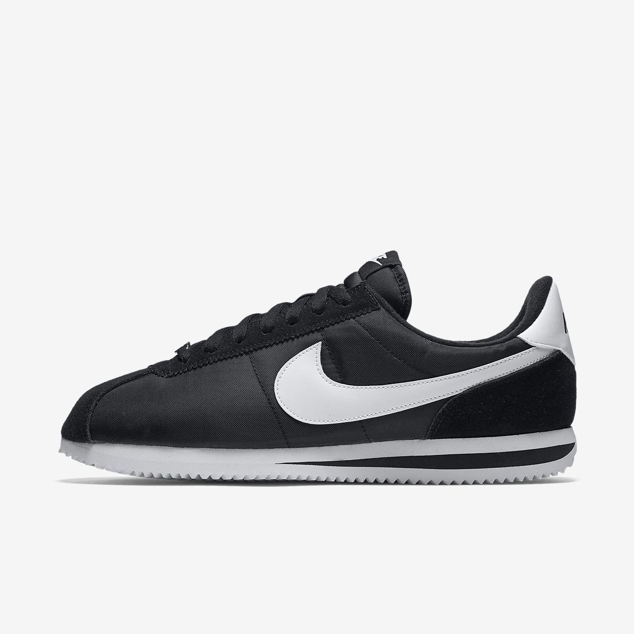 Nike Cortez Basic Nylon Boys Girls Trainer Black Gold White 4 5 RRP £50//