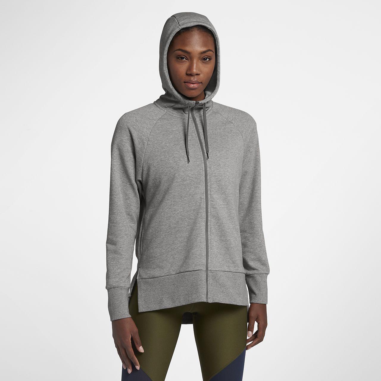 Nike Dri-FIT Women s Full-Zip Training Hoodie. Nike.com RO 0833f0aae