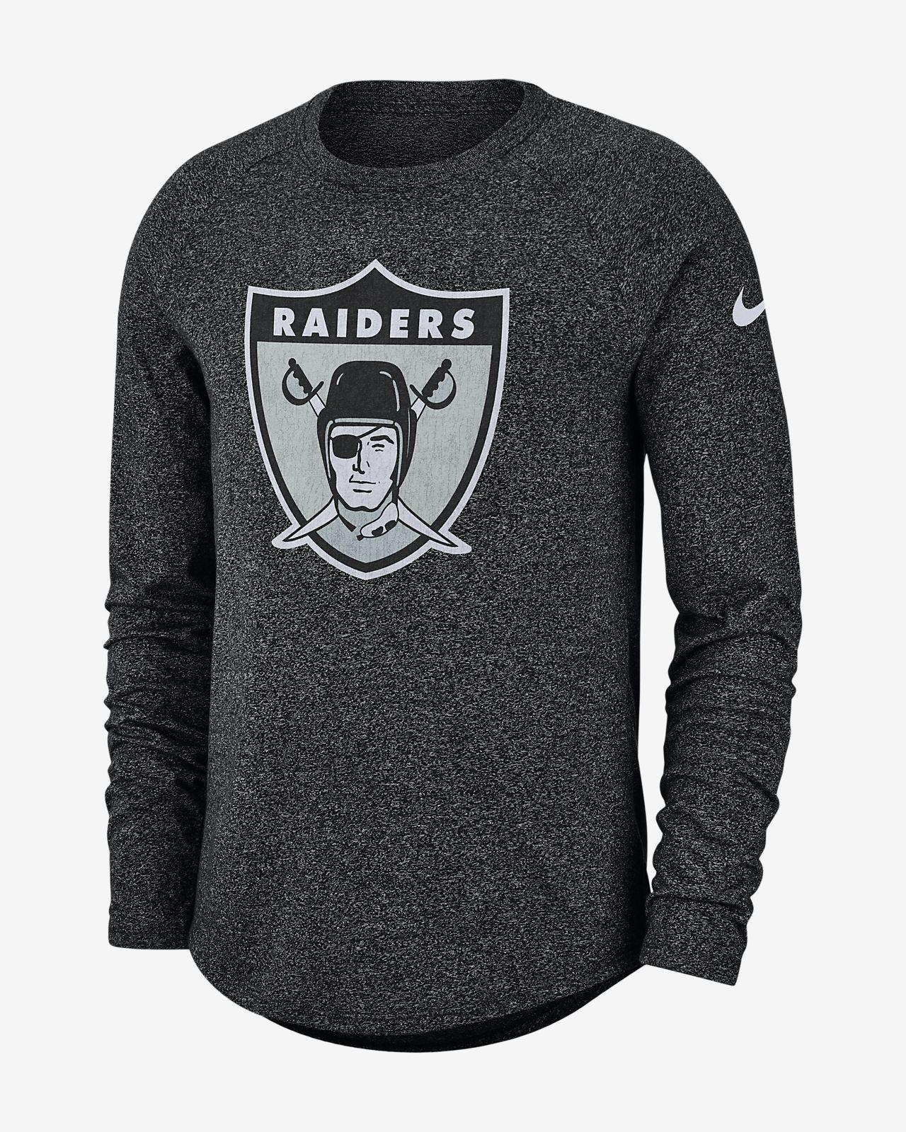 new concept 7771d 9ecc0 Nike Historic (NFL Raiders) Men's Long-Sleeve T-Shirt