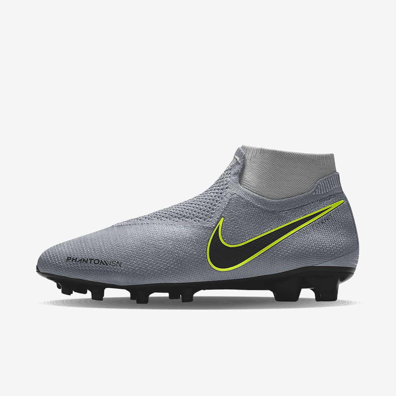 Nike Phantom Vision Elite FG By You 專屬訂製天然偏硬草地英式足球釘鞋