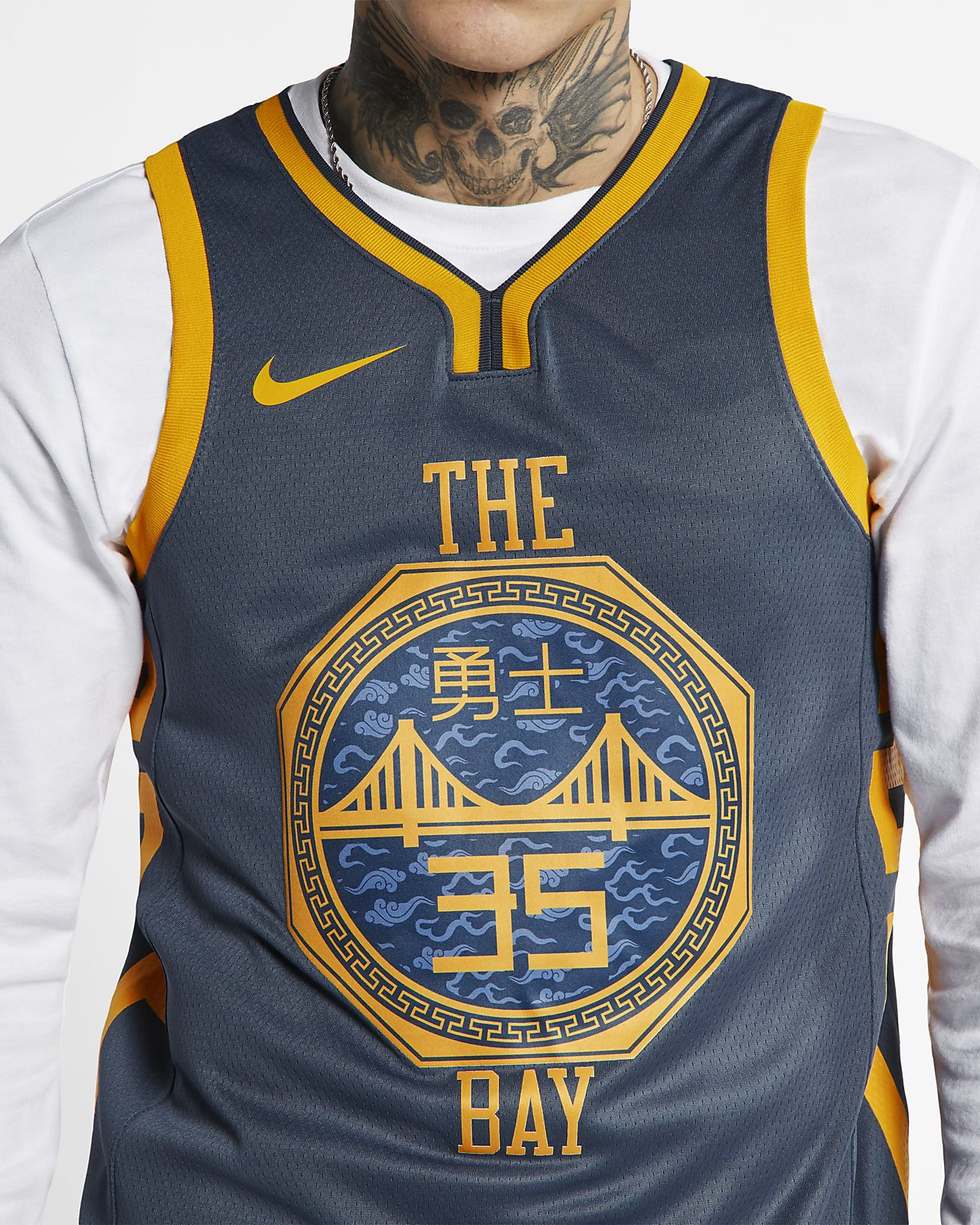 74c7370a01c18 ... Maillot connecté Nike NBA Kevin Durant City Edition Swingman (Golden  State Warriors) pour Homme