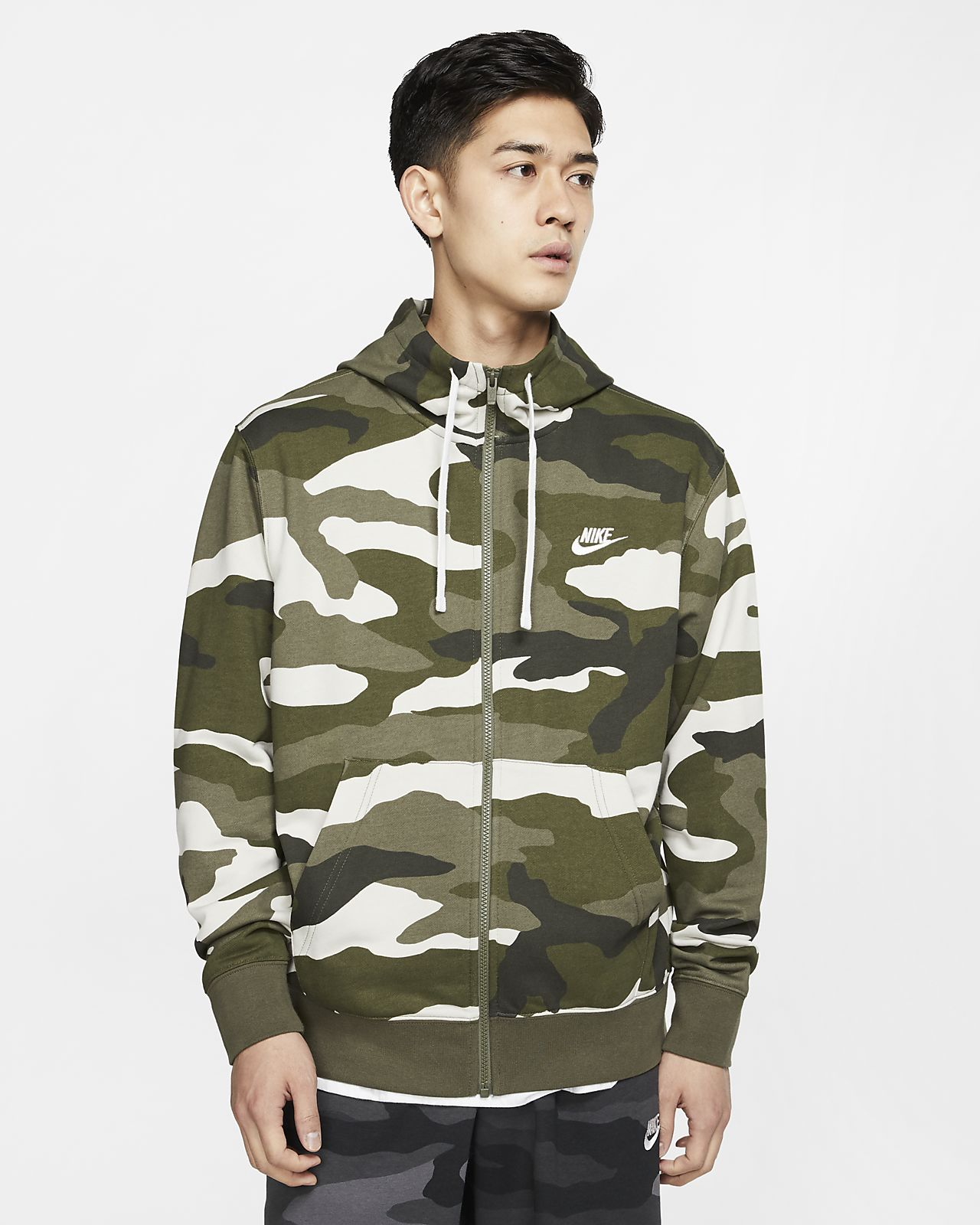 Męska rozpinana bluza dzianinowa z kapturem Nike Sportswear Club
