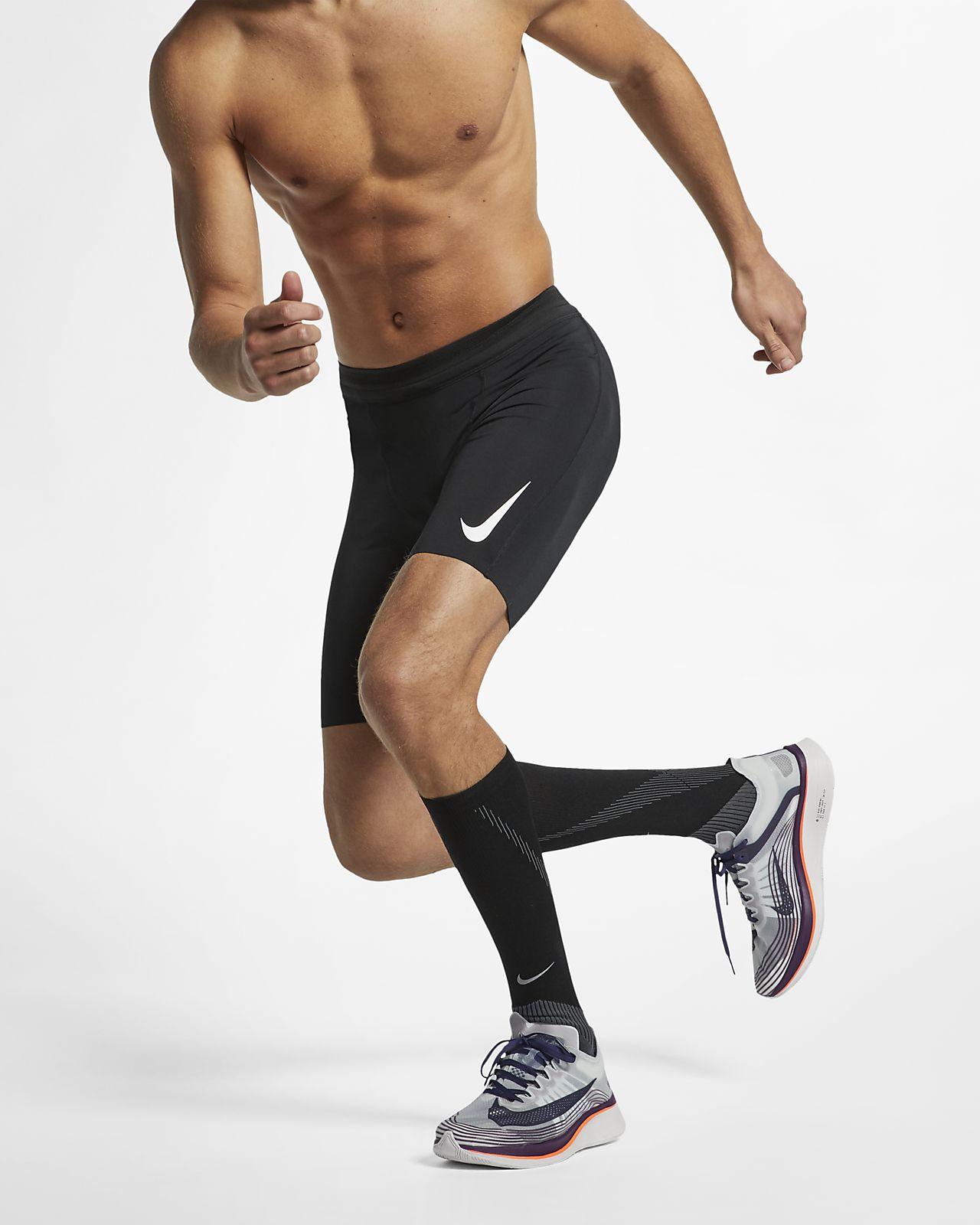 Pánské poloviční běžecké legíny Nike AeroSwift