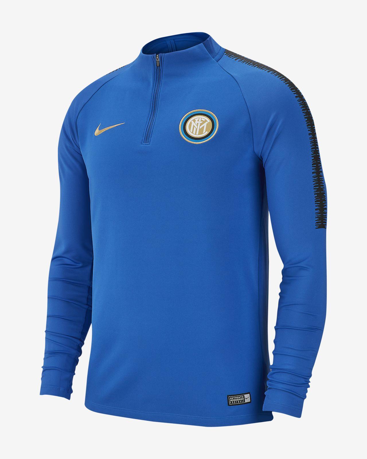 Inter Milan Dri-FIT Squad Drill hosszú ujjú férfi futballfelső