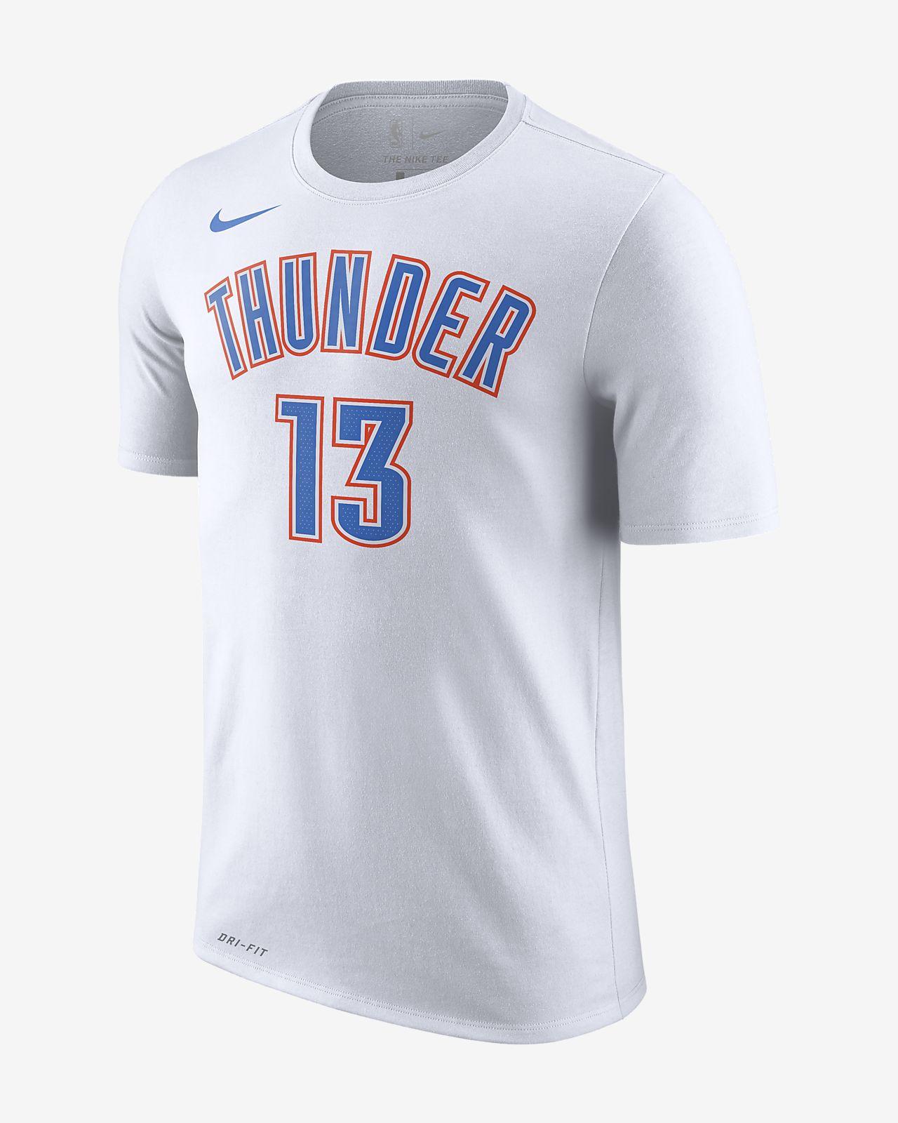 俄克拉荷马城雷霆队 (Paul George) Nike Dri-FIT 男子 NBA T恤