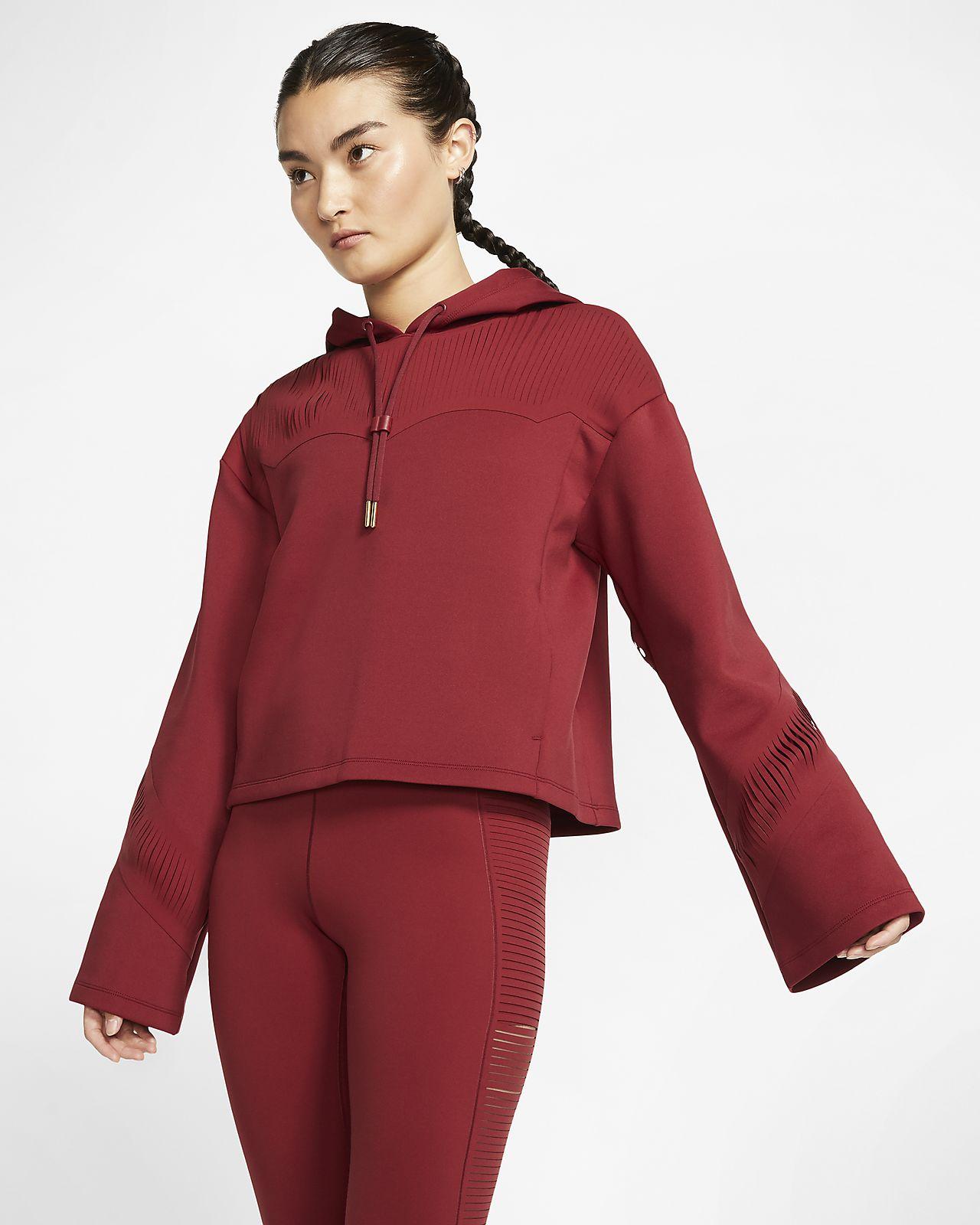 Nike Trainings-Hoodie mit Fransen für Damen
