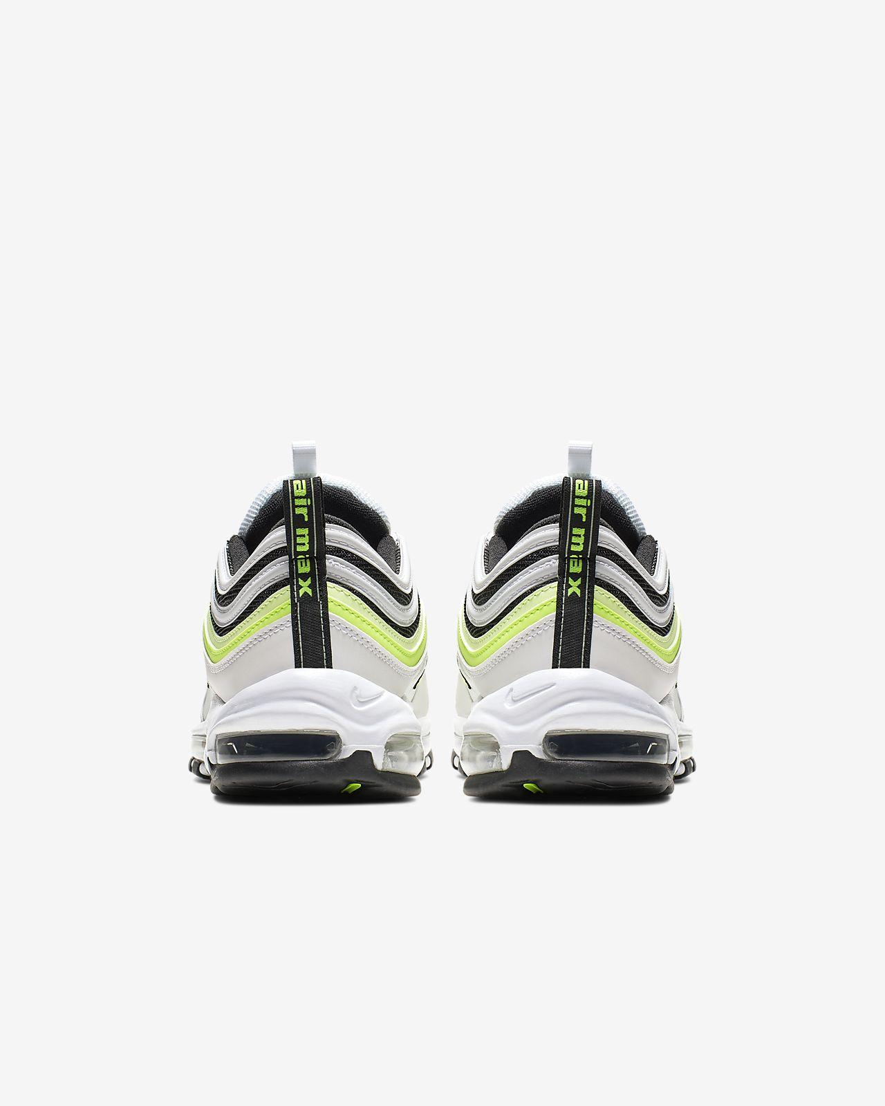 Nike Herren Sneaker Air Max 97 SE WhiteVolt Barely Volt Black
