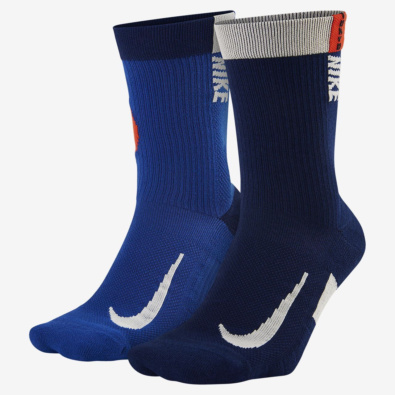 Nike Multiplier Running Crew Socks (2 Pair)