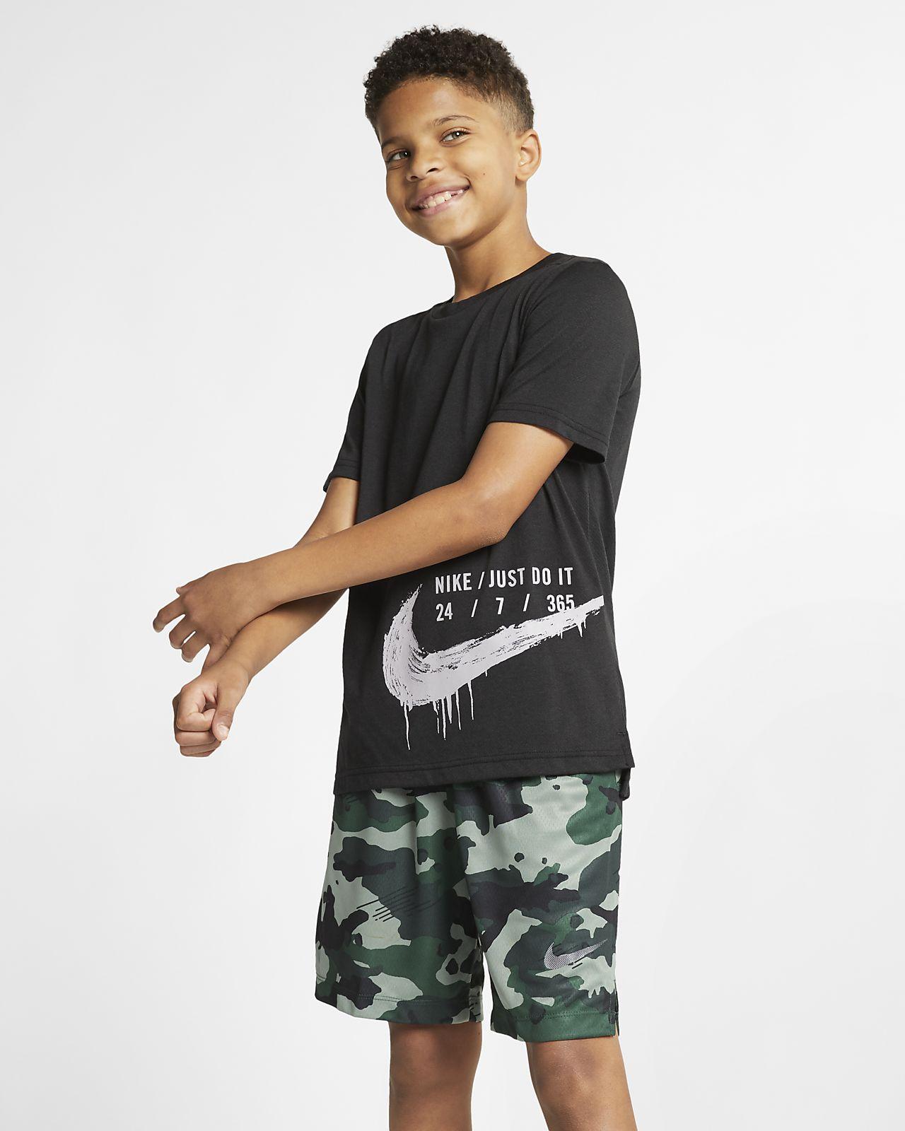 Κοντομάνικη μπλούζα προπόνησης Nike Breathe για μεγάλα παιδιά