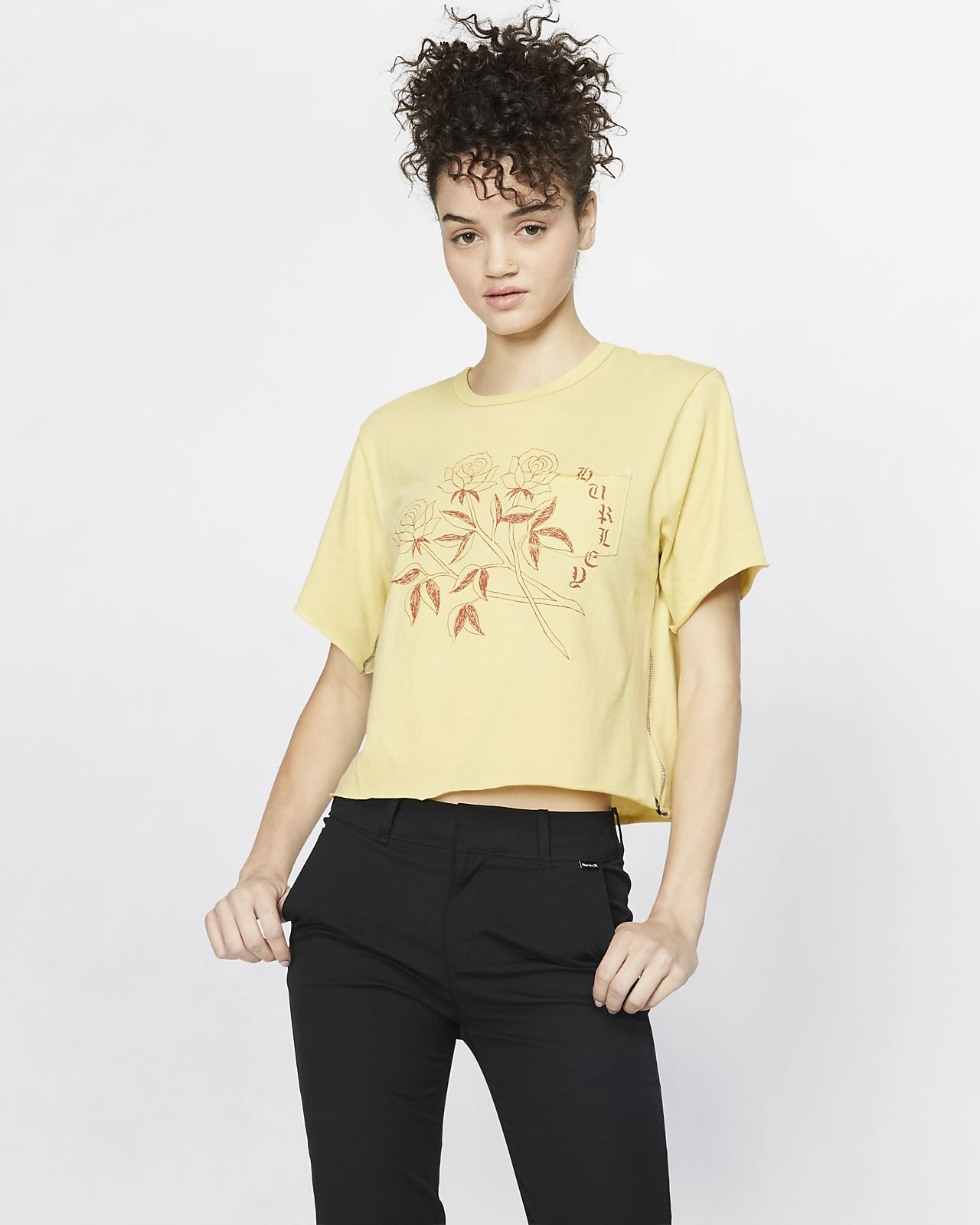 Tee-shirt Hurley Three Roses Pocket pour Femme