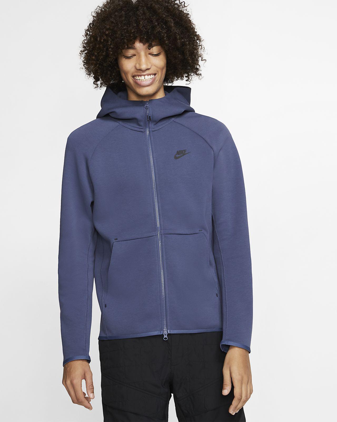Pánská mikina s kapucí a dlouhým zipem Nike Sportswear Tech Fleece