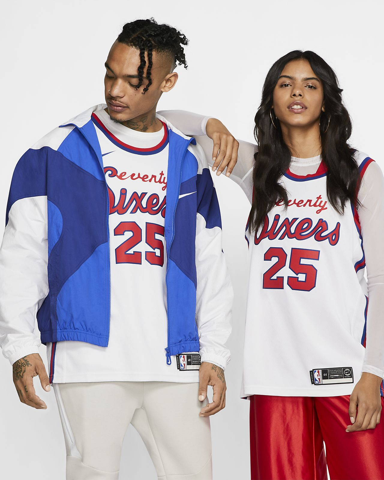 费城 76 人队 (Ben Simmons) Classic Edition Swingman Nike NBA Connected Jersey 男子球衣