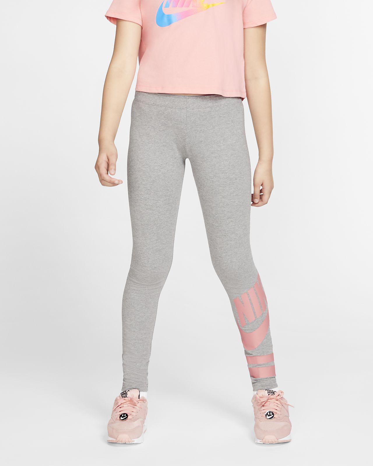Nike Sportswear leggings med trykk til store barn (jente)