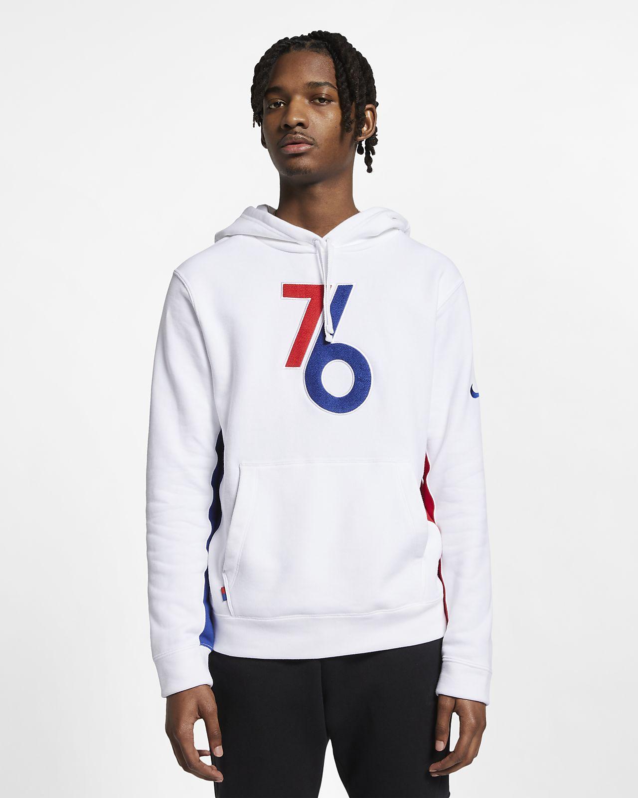 Philadelphia 76ers Nike NBA-s kapucnis férfipulóver