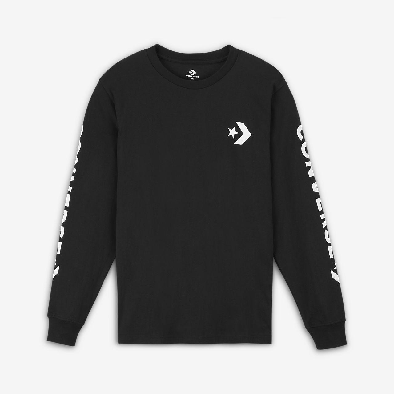 Converse Star Chevron Wordmark Men's Long Sleeve T-Shirt. Nike.com