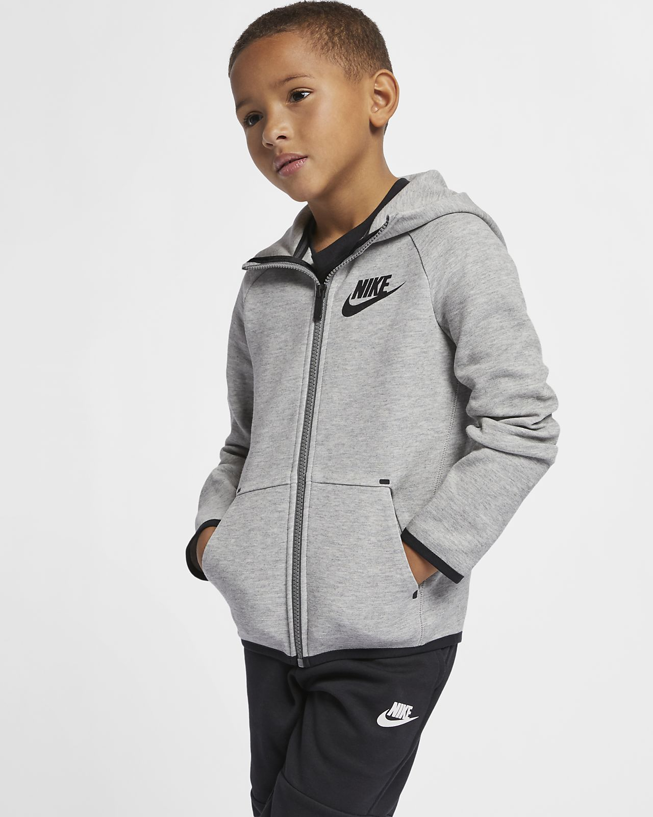 Huvtröja Nike Sportswear Tech Fleece för barn