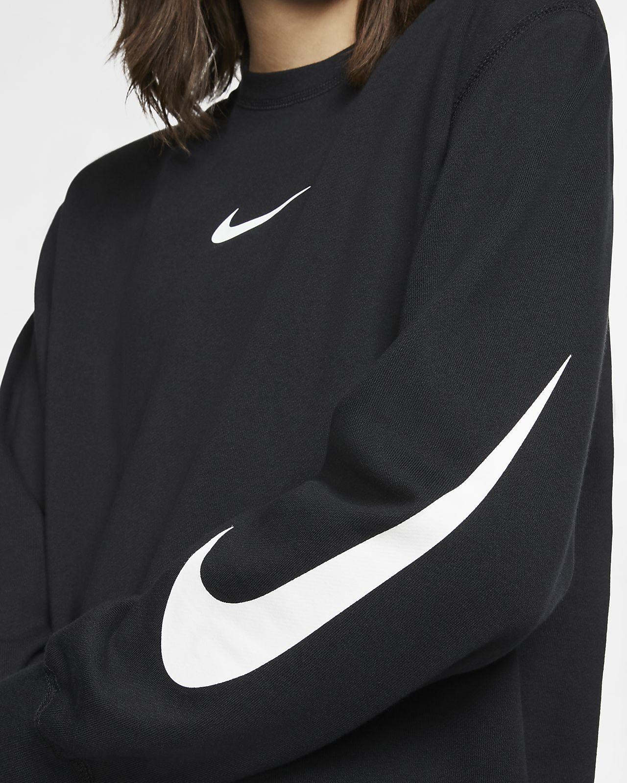 67598149 Nike Sportswear Swoosh Long-Sleeve French Terry Crew. Nike.com NL