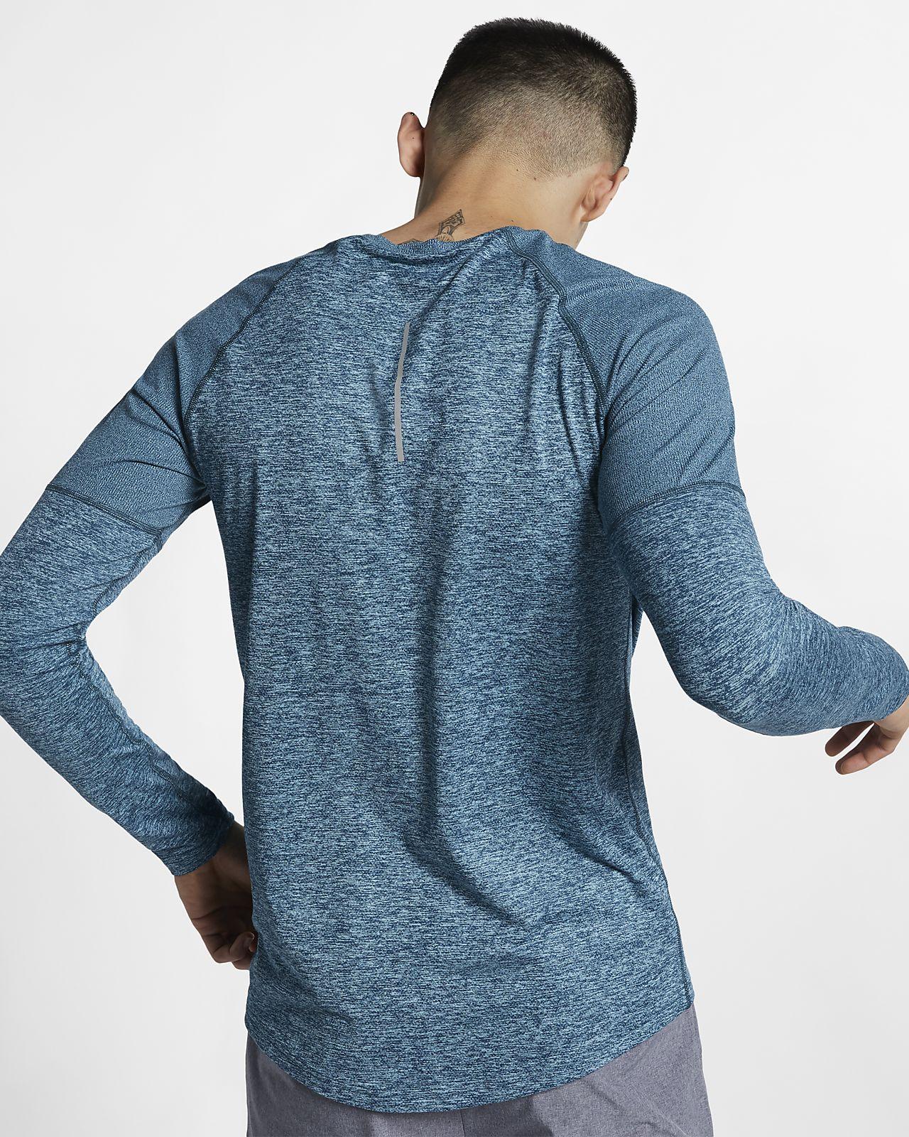 Details zu Nike Running Longsleeve Crew Jacket Herren Laufoberteil black Gr M SCHWARZ NEU