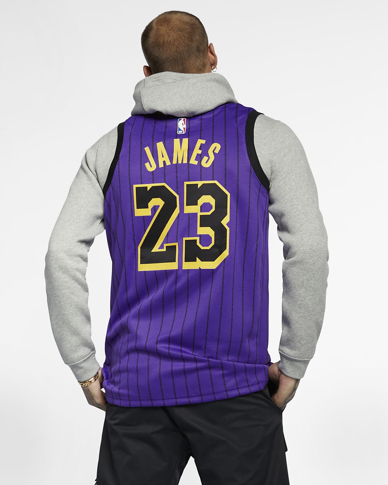 3e852309e ... LeBron James City Edition Swingman (Los Angeles Lakers) Men s Nike NBA  Connected Jersey