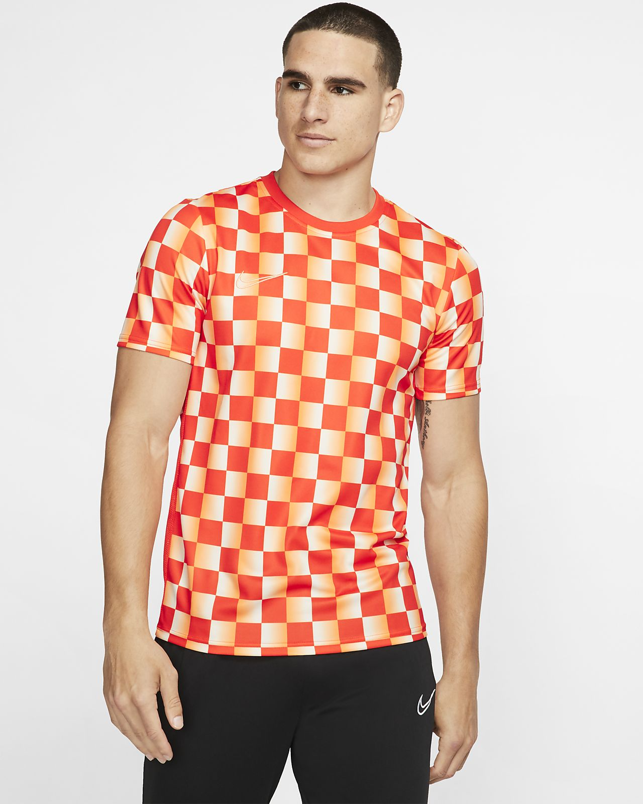 Nike Dri-FIT Academy Men's Printed Short-Sleeve Soccer Top