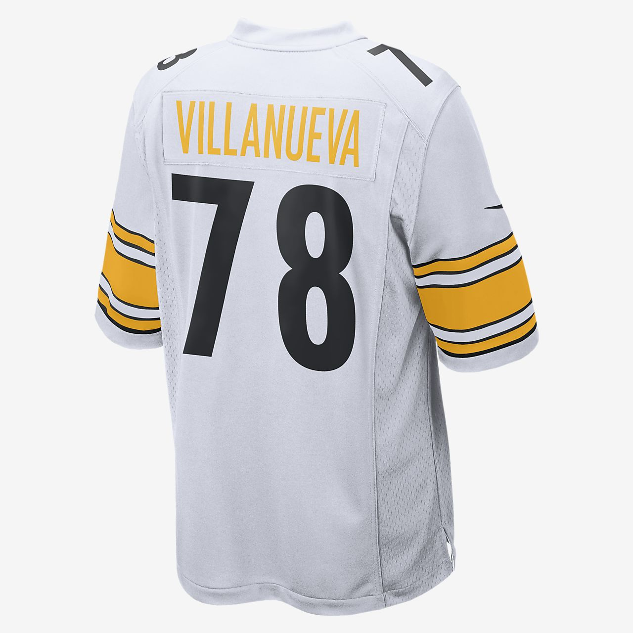 info for 00675 3bc4a NFL Pittsburgh Steelers (Alejandro Villanueva) Men's Football Away Game  Jersey