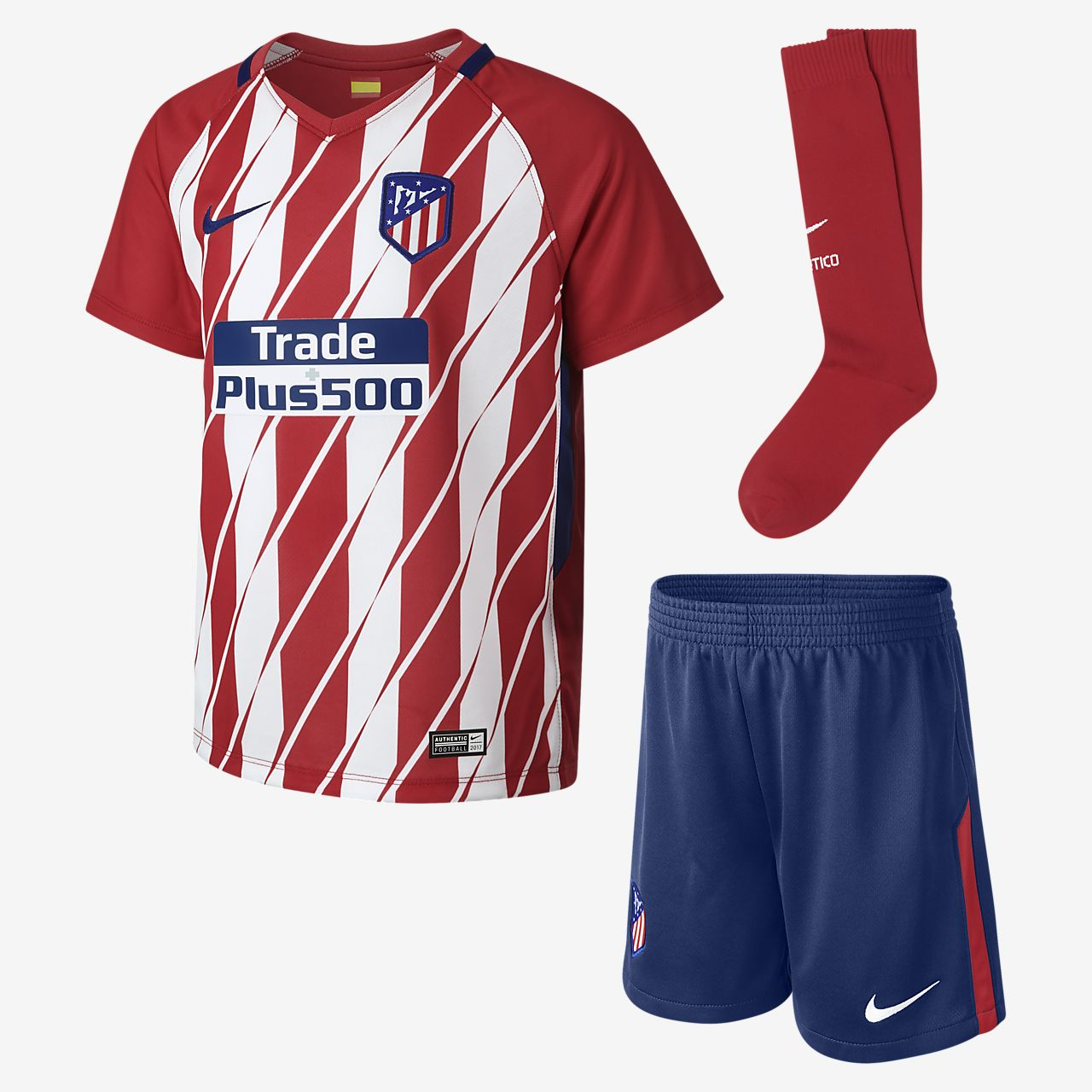... 2017/18 Atletico de Madrid Stadium Home Younger Kids' Football Kit