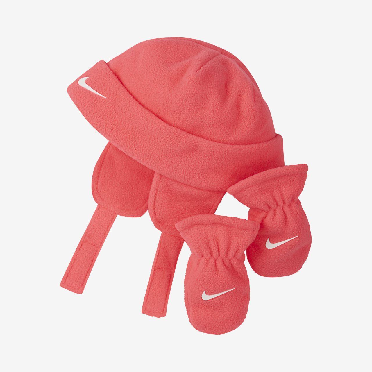 Ensemble bonnet et moufles Nike pour Bébé