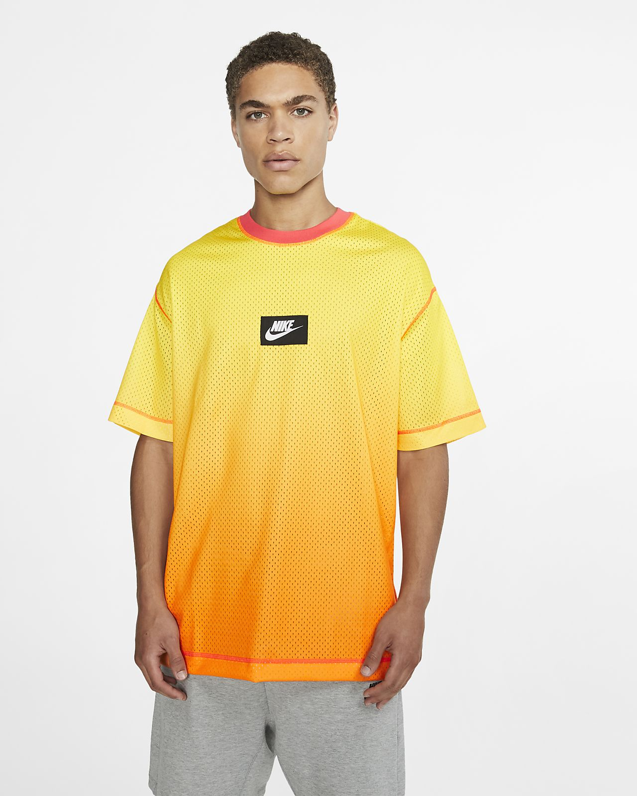 online store f0c58 52fbd ... Kortärmad tröja i mesh Nike Sportswear för män