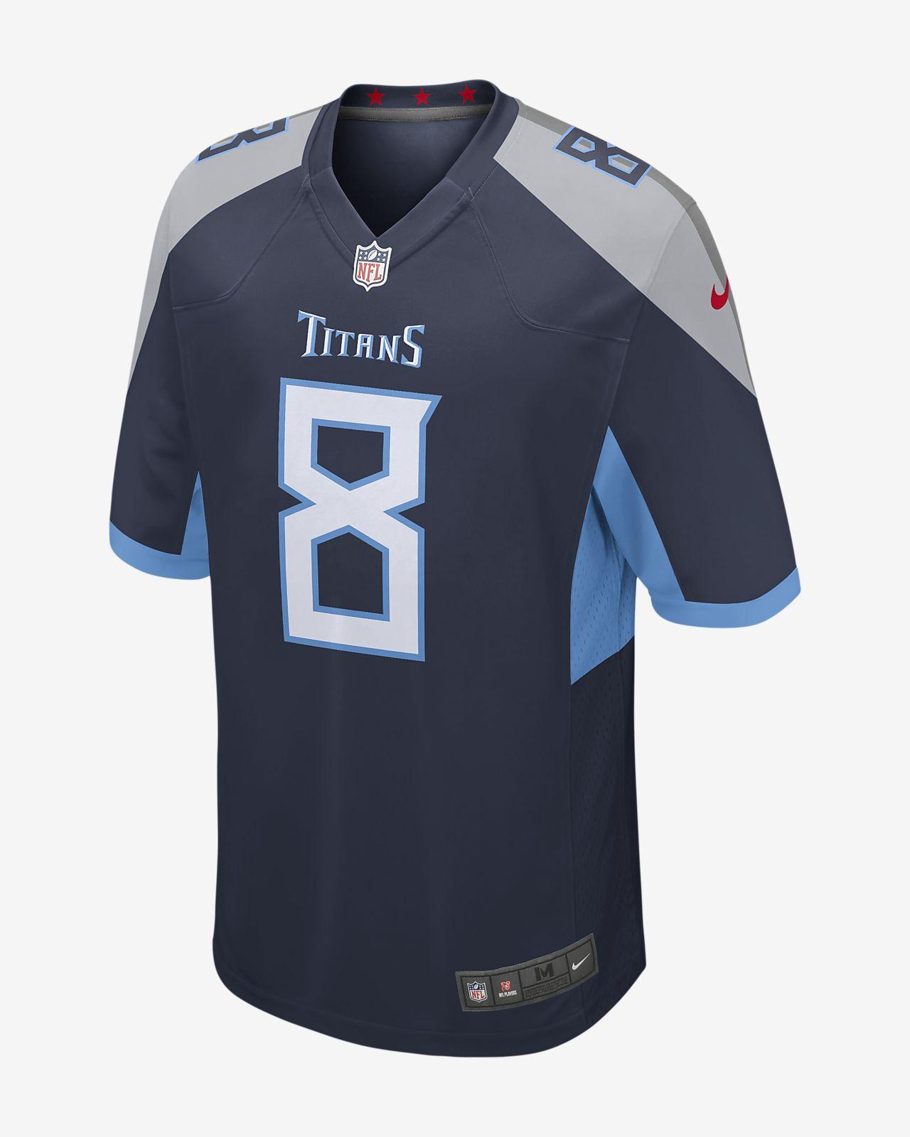 Camiseta de fútbol americano para hombre NFL Tennessee Titans Game Jersey (Marcus Mariota)
