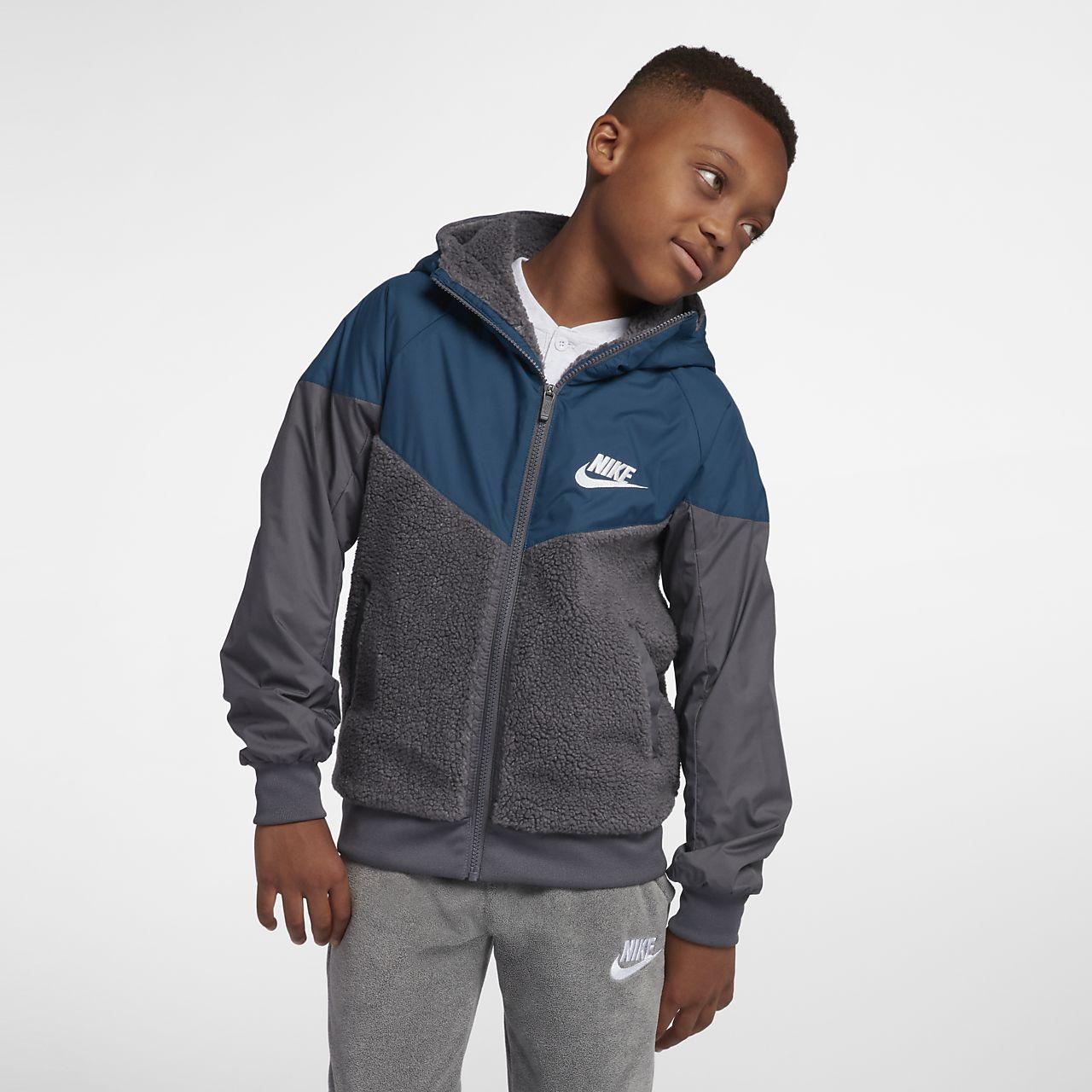 f8515778e49d Nike Sportswear Windrunner Boys  Sherpa Jacket. Nike.com
