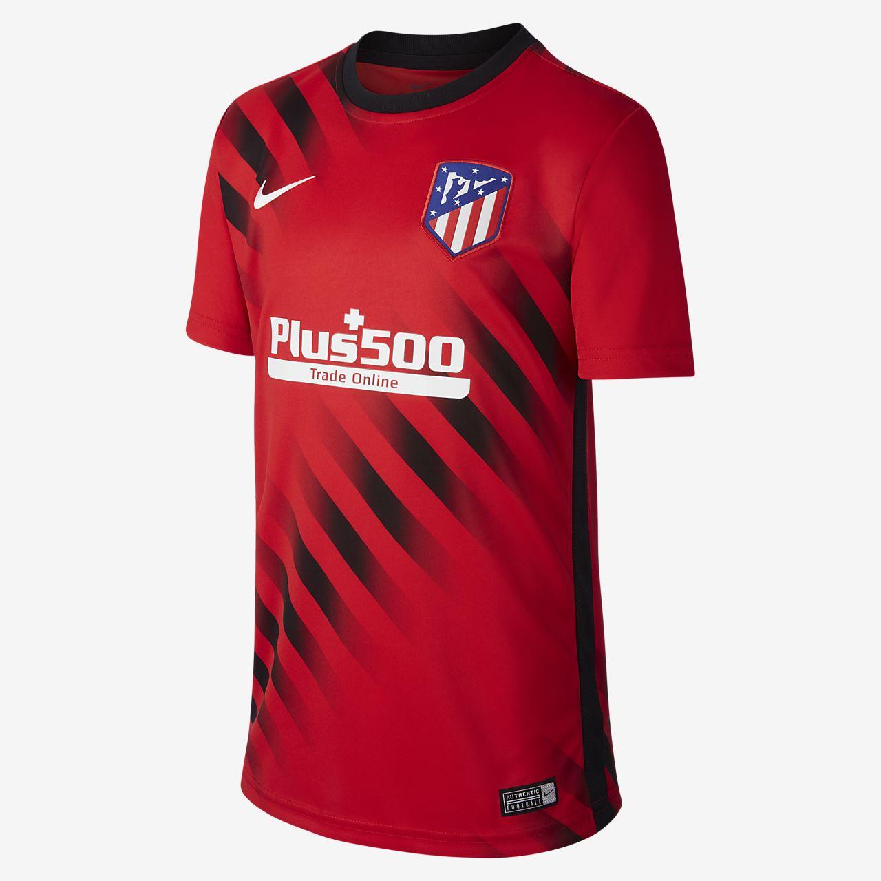 Prenda para la parte superior de fútbol de manga corta para niños talla grande Atlético de Madrid