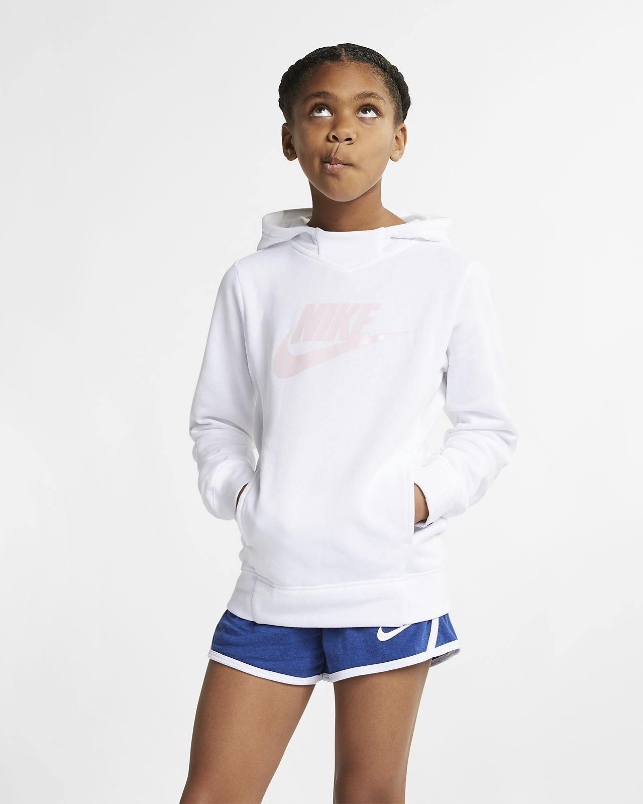 Nike Sportswear Older Kids' (Girls') Graphic Pullover Hoodie