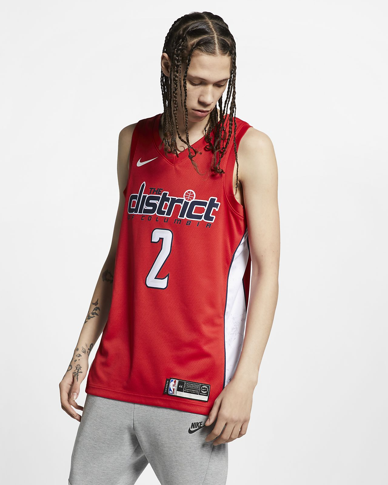 Camiseta conectada Nike NBA para hombre John Wall Earned City Edition Swingman (Washington Wizards)
