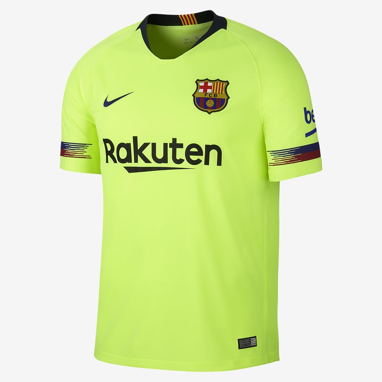 2018 19 FC Barcelona Stadium Away Men s Soccer Jersey. Nike.com 21e2e75359d