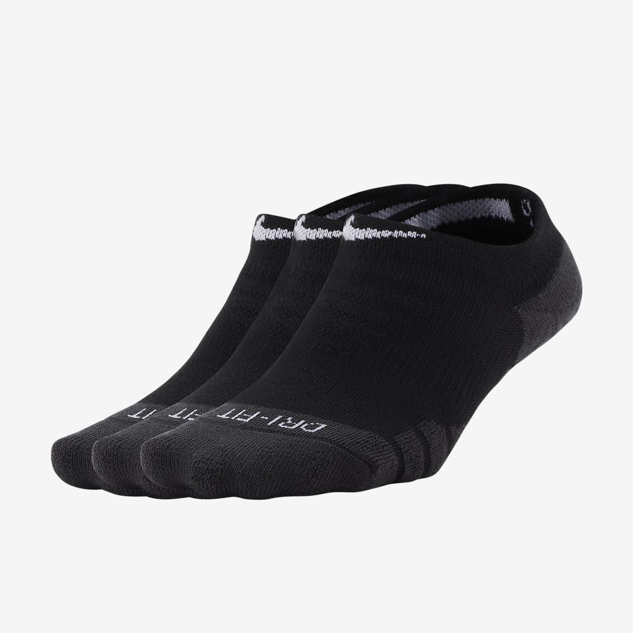 Nike Sports Socks No Show Ankle 3 Pair Athletic Sportswear Ladies Womens Mens