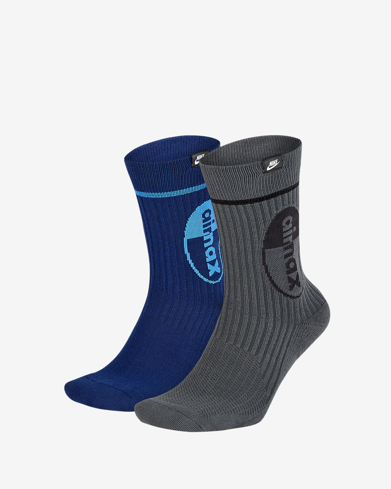 Nike SNKR Sox Air Max Crew Socks (2 Pairs)