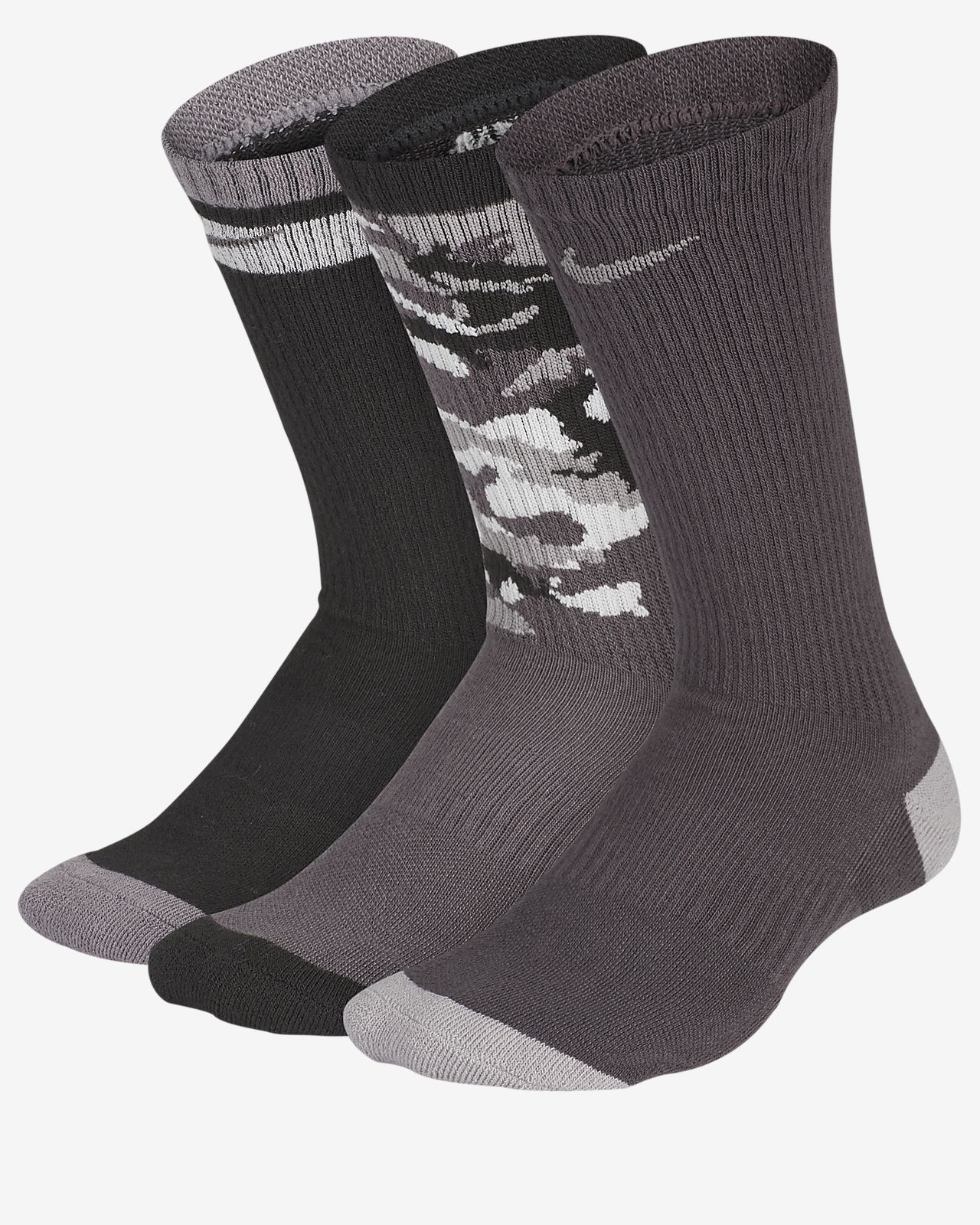 Nike Everyday Cushioned Kids' Crew Socks (3 Pairs)