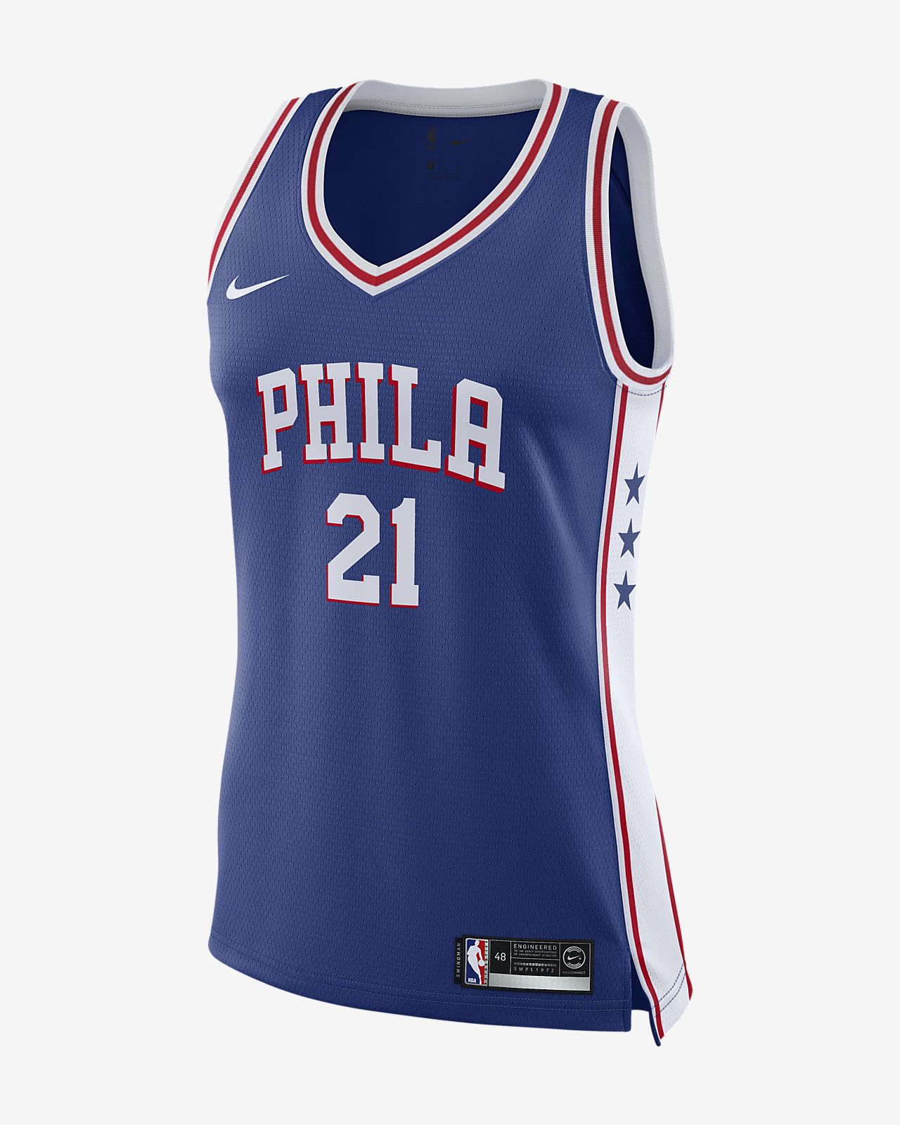 Women s Nike NBA Connected Jersey. Joel Embiid Icon Edition Swingman  (Philadelphia 76ers) a2254ec2f
