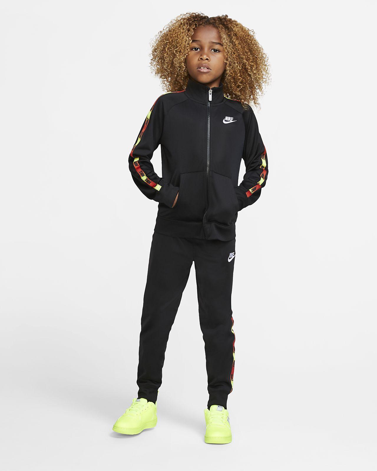 Tuta nike sportswear ragazzo nero nike neri
