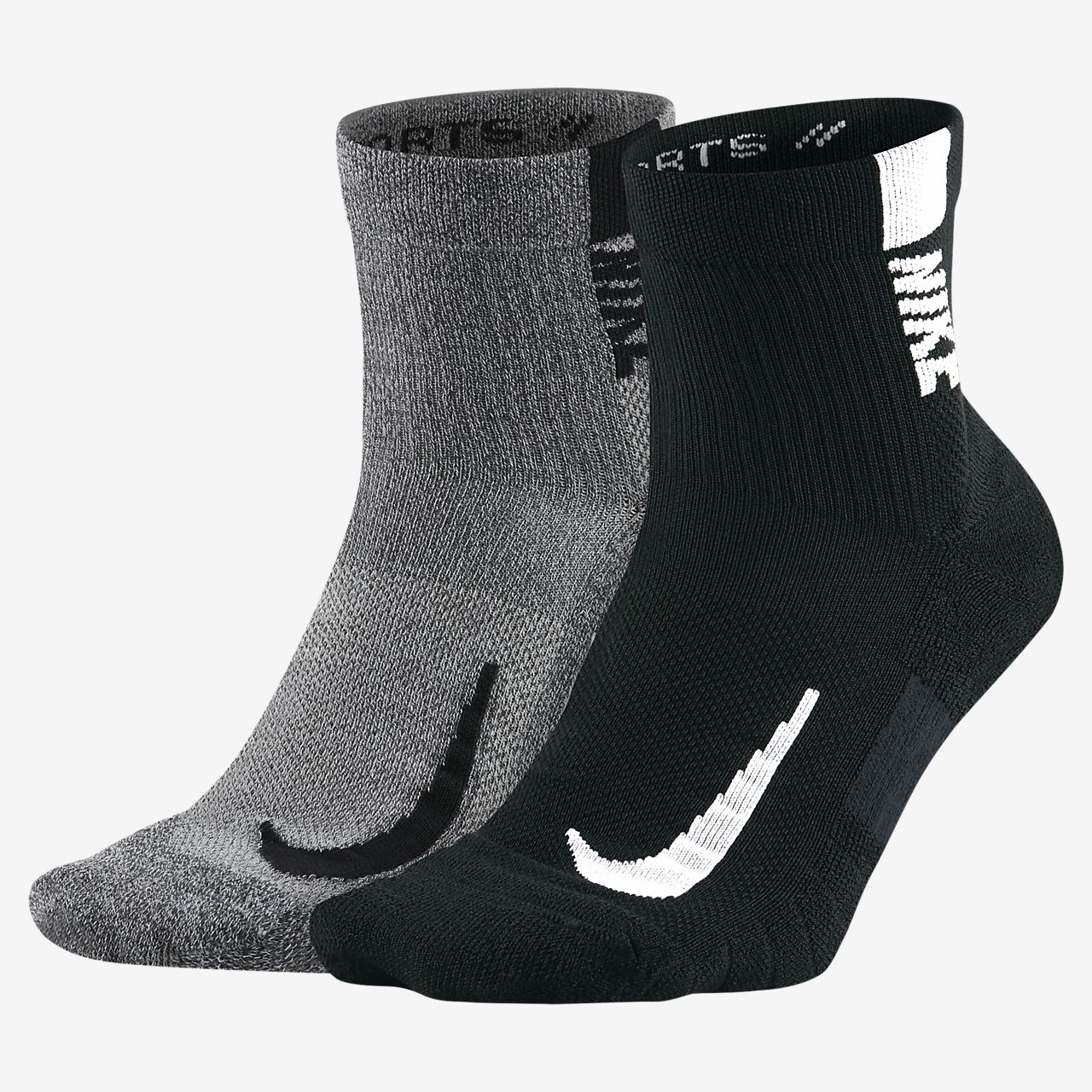 Nike Multiplier Ankle Socks (2 Pairs)