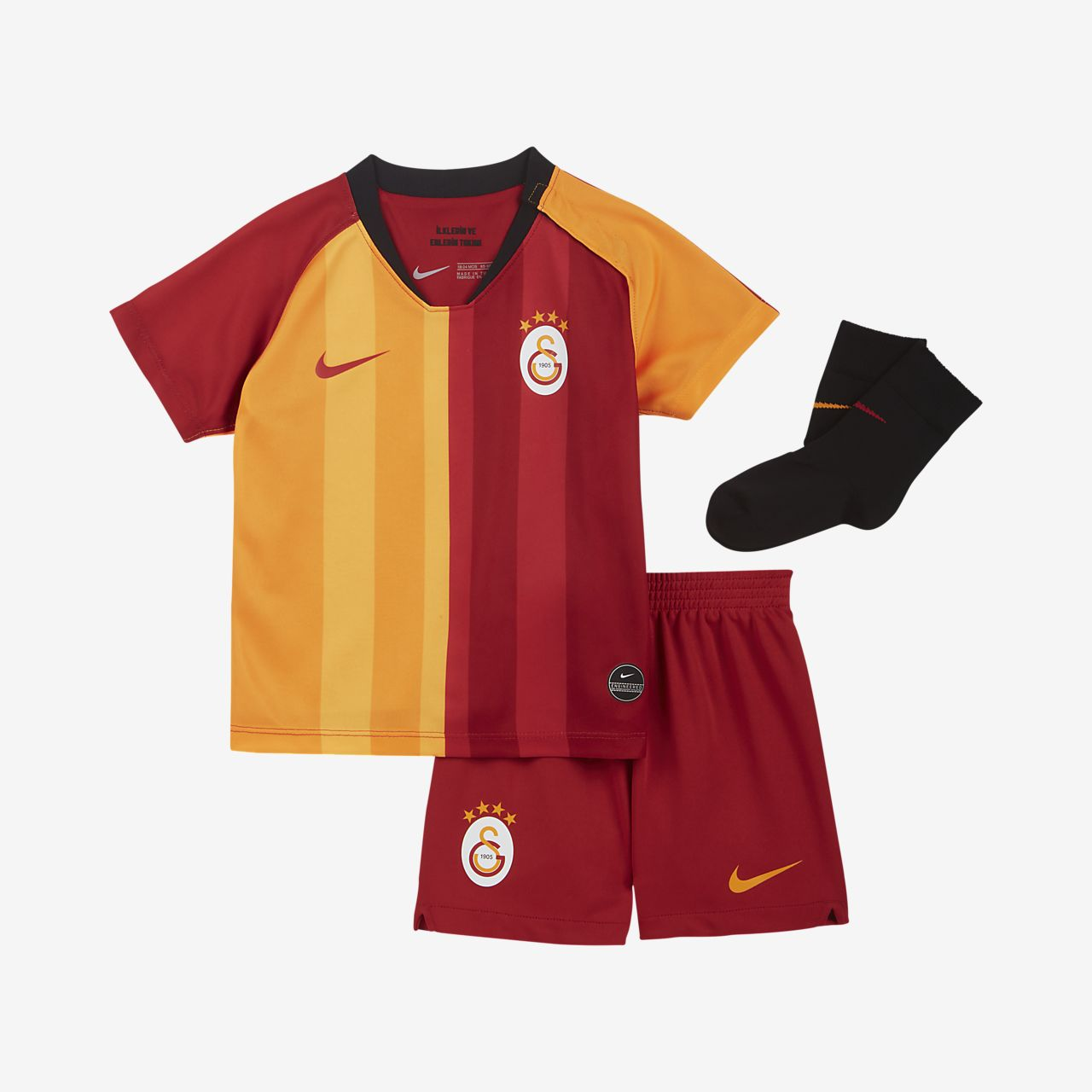 Galatasaray 2019/20 Home Fußballtrikot-Set für Babys und Kleinkinder