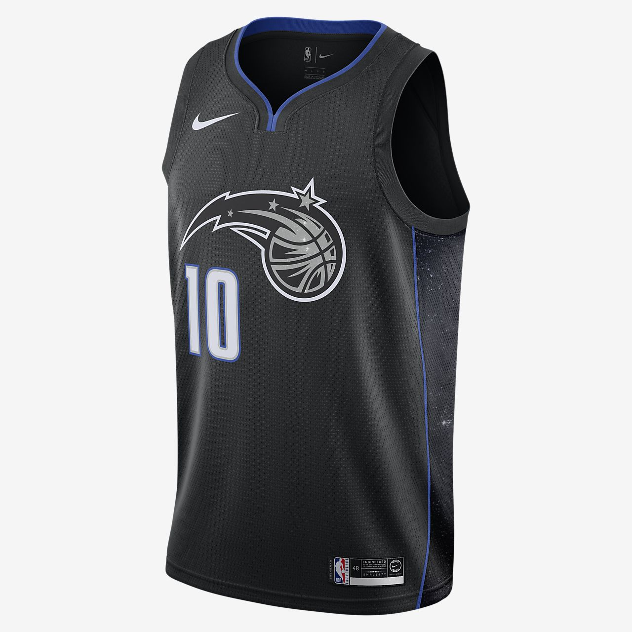 Maillot connecté Nike NBA Evan Fournier City Edition Swingman (Orlando Magic) pour Homme