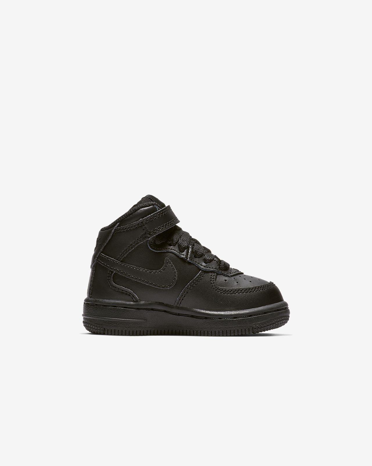 Nike Air Force 1 Mid Bébé Noire Chaussures Chaussures