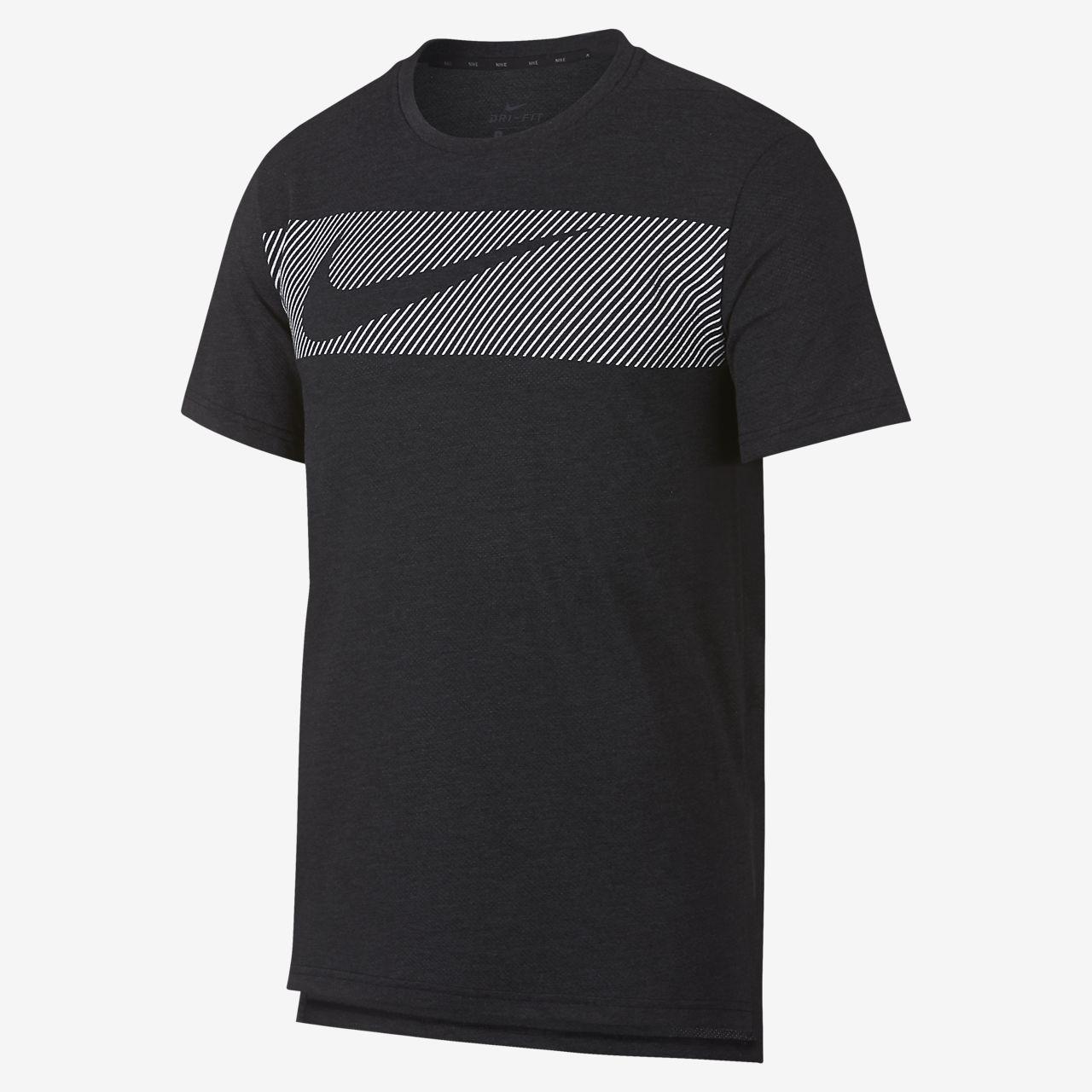 Breathe Para Nike Entrenamiento Camiseta De Hombre Manga Corta wO8X0Pkn