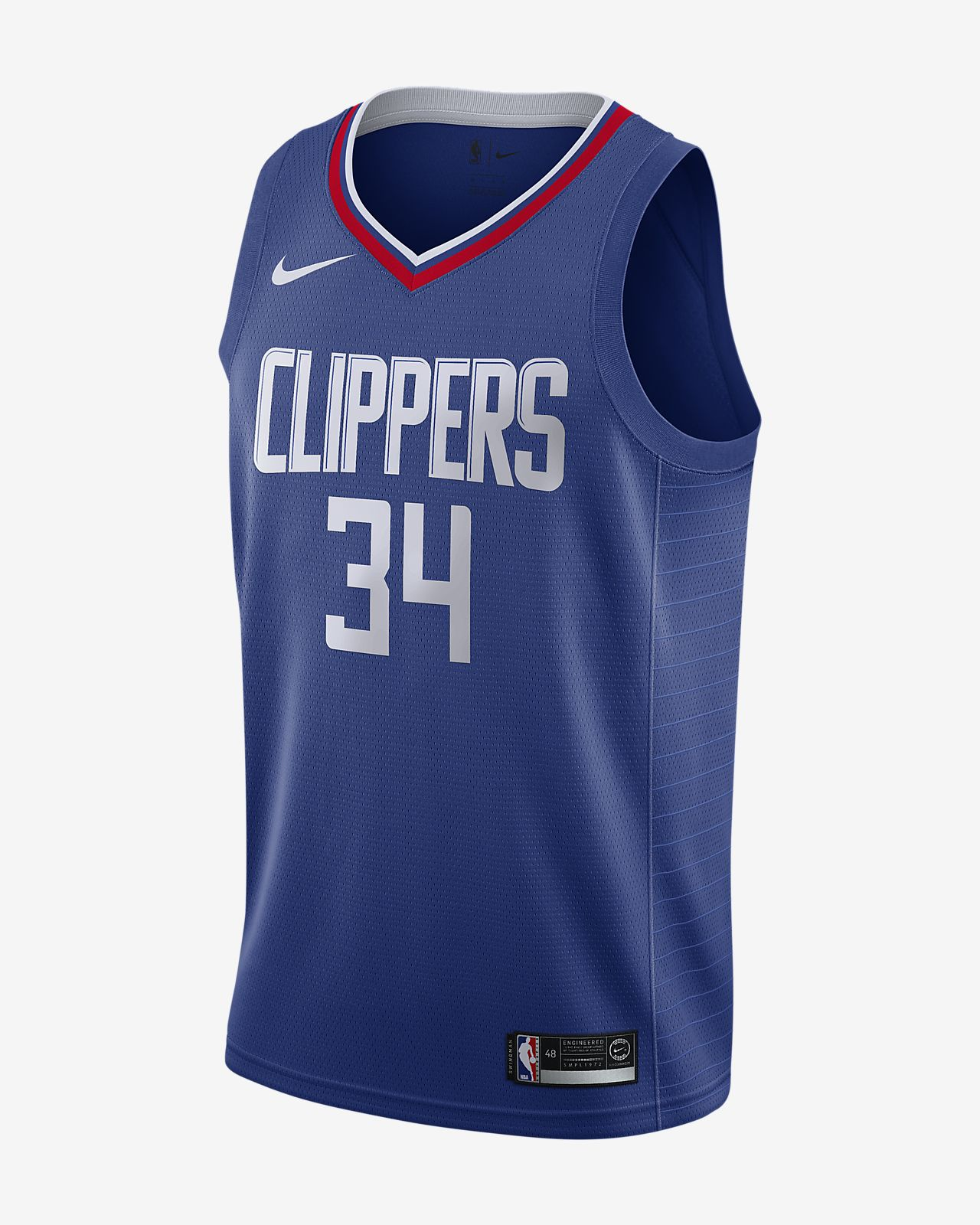 Tobias Harris Icon Edition Swingman (LA Clippers) tilkoblet Nike NBA-drakt til herre