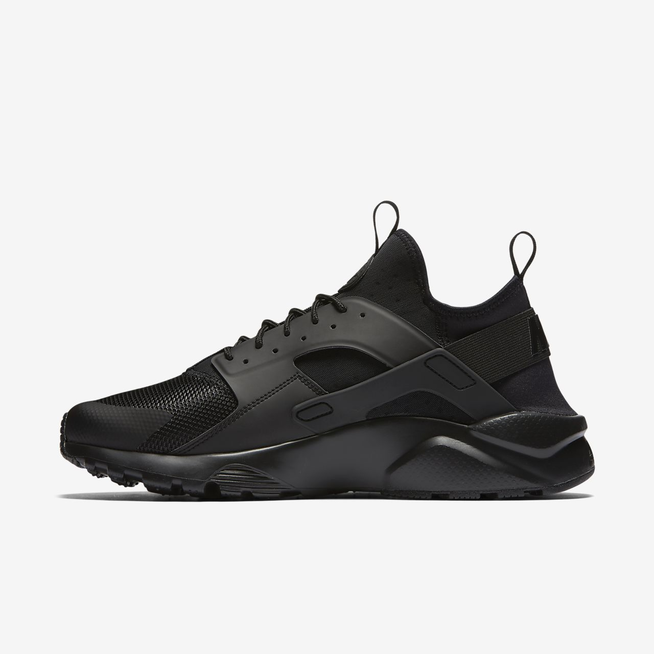 men's nike air huarache run ultra casual shoes triple black